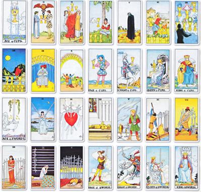Tarot cards used in tarot readings