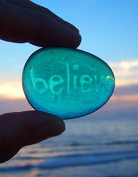 Transparent stone says believe to represent life guidance through spiritual and psychic services